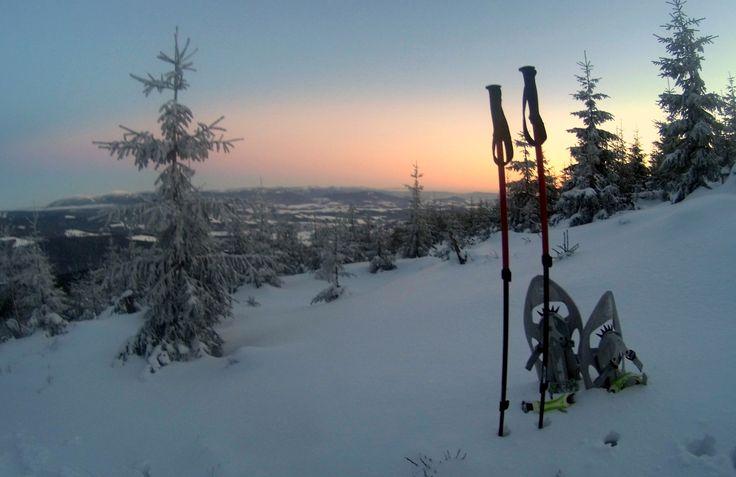 Ve středu odpoledne jsme vyrazili na Kralický Sněžník. Nádherná zima a luxusní západ slunce. #ŽivotNaHorách http://lavivatravel.cz/cs/vypravy-na-sneznicich/vystup-na-kralicky-sneznik