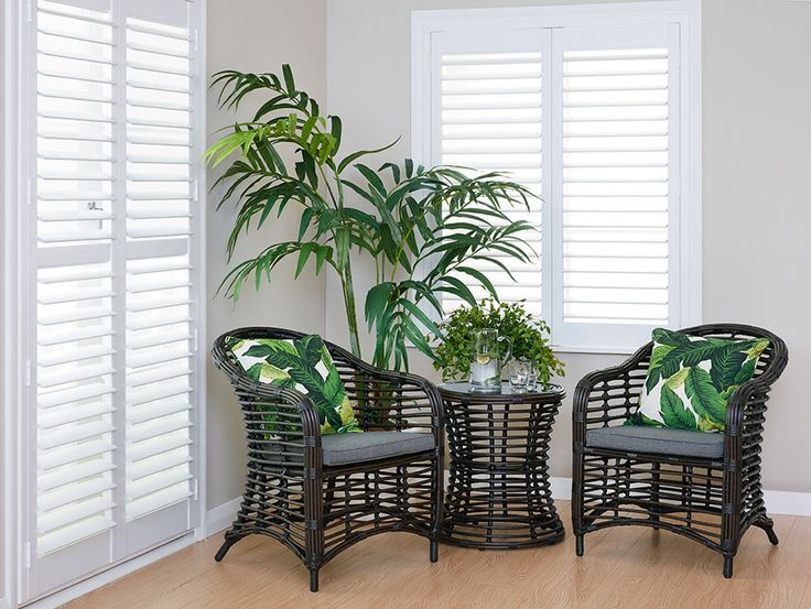 Harvey Furnishings timber hinged shutters - create a sanctuary in your home!