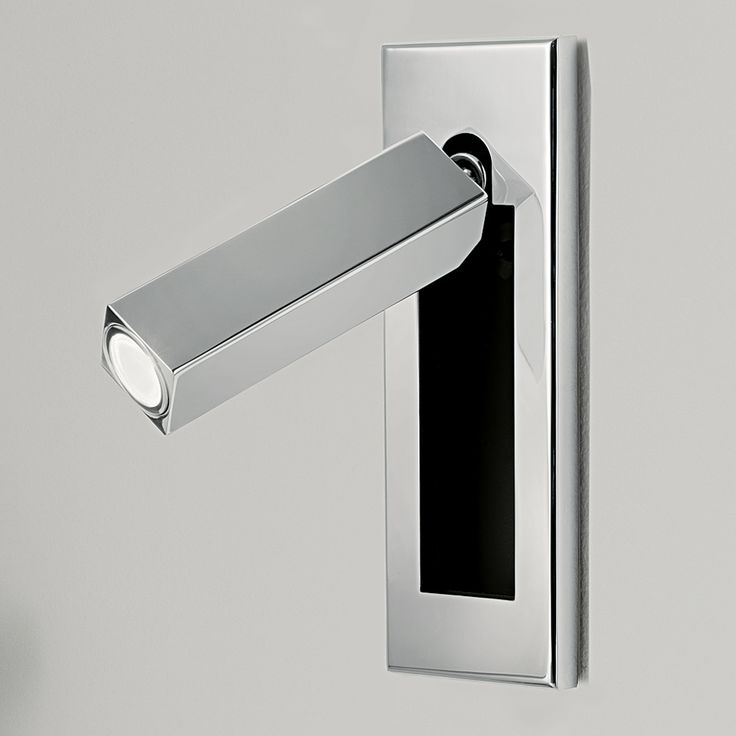 LED/5/1/C | Chelsom | FEATURES A WARM WHITE LED READING LIGHT IS HOUSED WITHIN A RECTANGULAR HEAD THAT SWIVELS 90° LEFT, RIGHT OR FORWARD AND 'DOCKS' INTO A SEMI RECESSED BACKPLATE, WHICH CAN BE VERTICALLY OR HORIZONTALLY MOUNTED. DOCKING SWITCH AND PUSH SWITCH OPTIONS ARE AVAILABLE