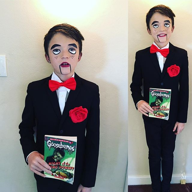 Kyan's favourite day of the year #bookweek #school #goosebumps #slappy