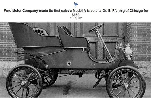 Ford Motor Company makes it's first sale - Model A