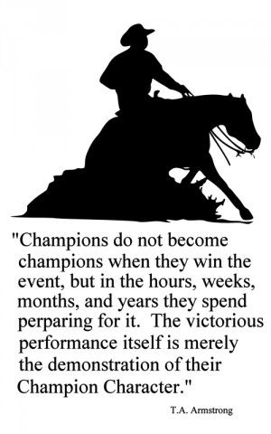 144-HQ Horse-Champions Reining Horse Quote-Horse wall decal-Large 28 x ...