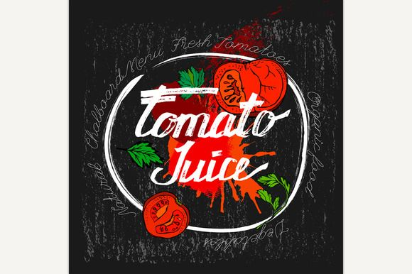 Tomato Vector Image by Double Brain on @creativemarket