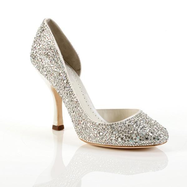 Gaga Silver Colour Wedding Shoes By Benjamin Adams