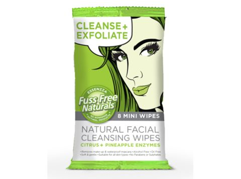 Cleanse + Exfoliate Mini Face Wipes -  Fuss Free Naturals