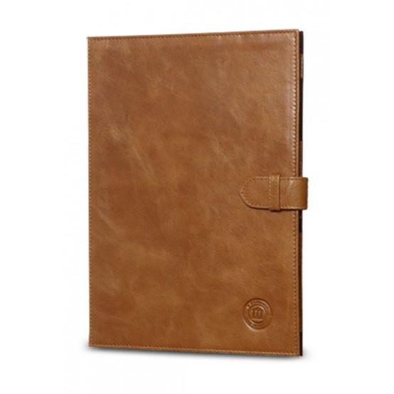 Golden tan, classic leather folio case for Galaxy Note 10.1. Price: $90. More information: www.dbramante1928.com.