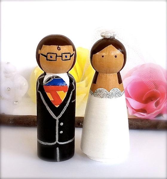 Superman Wedding Cake Topper Clark Kent By