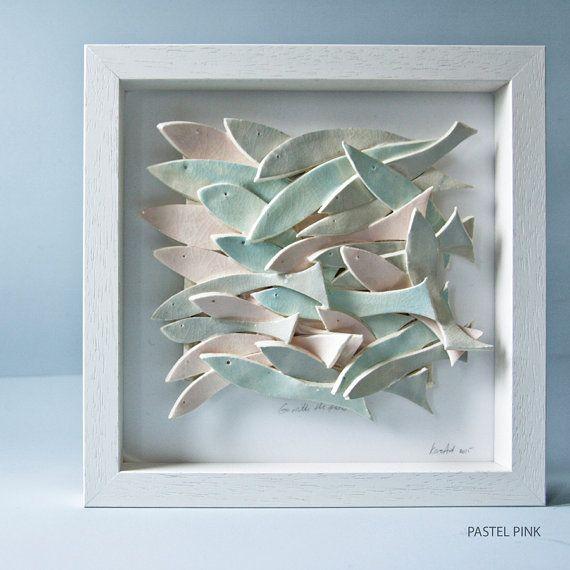 arte de cerámica de la pared arte de peces de cerámica por karoArt