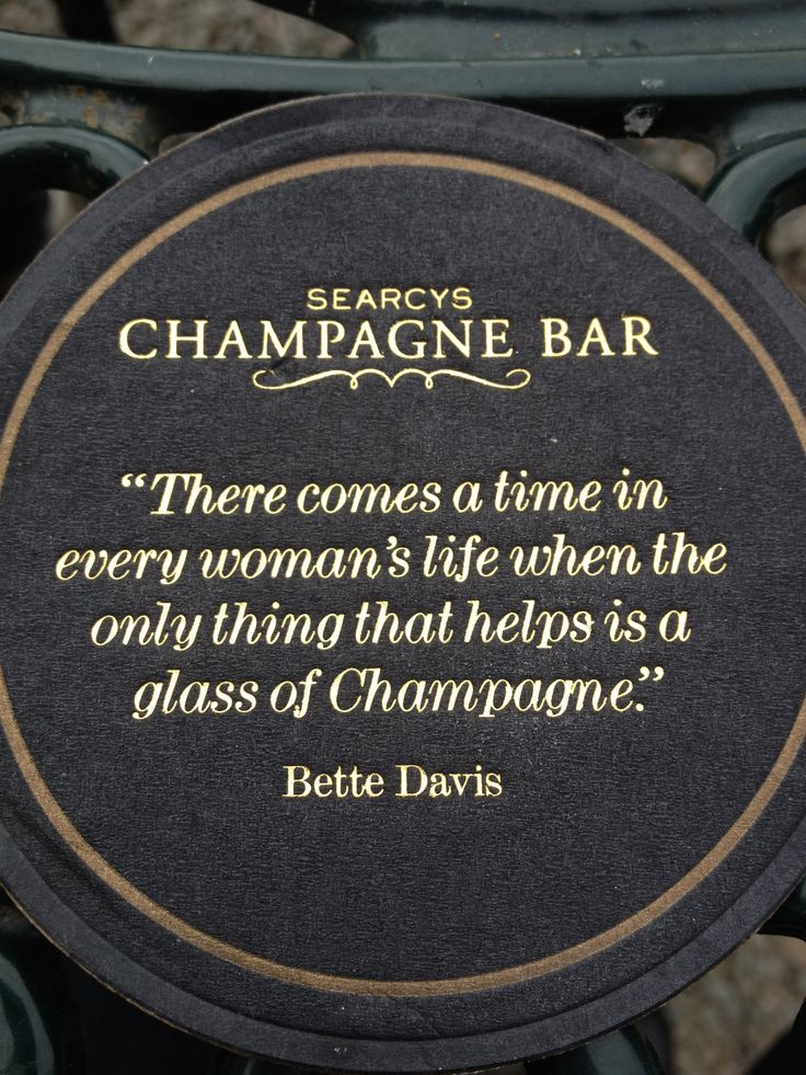 Champagne BAR - Bette Davis