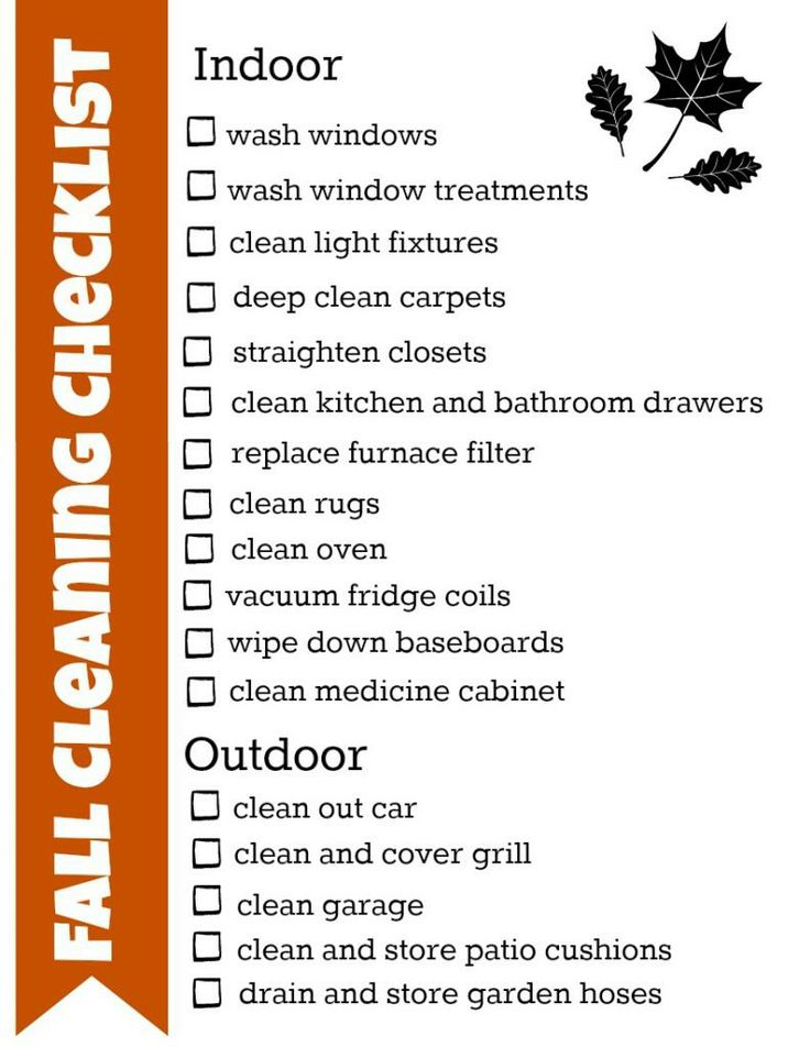 Fall Checklist with great tips. There is still time to check those items off!!!