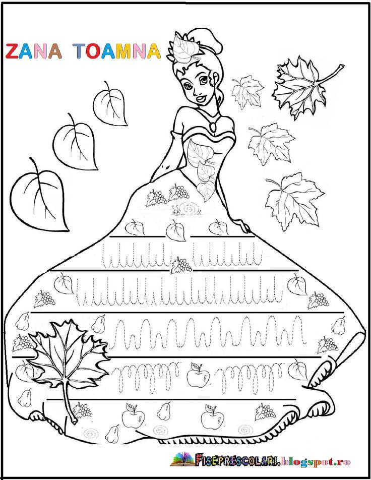FISE cu Semne grafice pentru copii - TOAMNA - Zana Toamna | Fise de lucru - gradinita