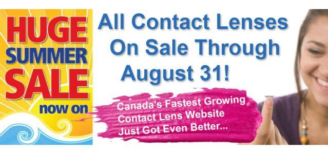 Huge Contact Lens Summer Sale