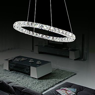 Modern LED Bulb Included Crystal Chandelier, 12 LEDs, Fashionable Round Stainless Steel Plating – LightSuperDeal.com http://www.lightsuperdeal.com/modern-led-bulb-included-crystal-chandelier-12-leds-fashionable-round-stainless-steel-plating.html