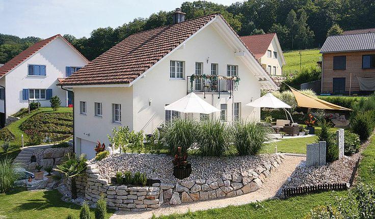 Hanglage Haus_ Swisshaus – Garten am Hang – #Garten #Hang #Hanglage #Haus #Swiss… – Haus