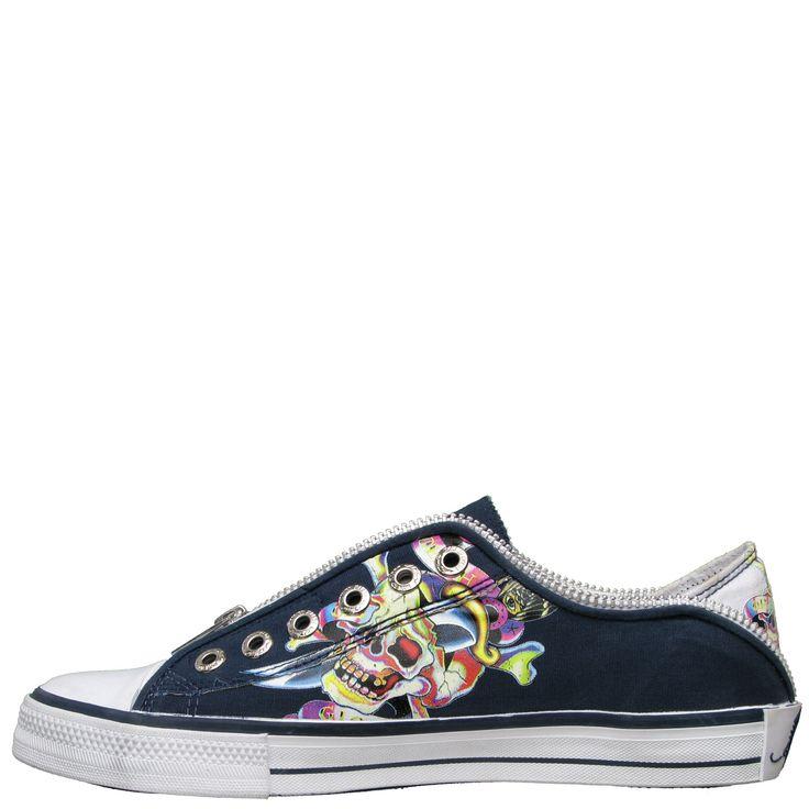 Ed Hardy Lowrise Bronx Shoe for Kids - Navy - Yvonne's #shoes