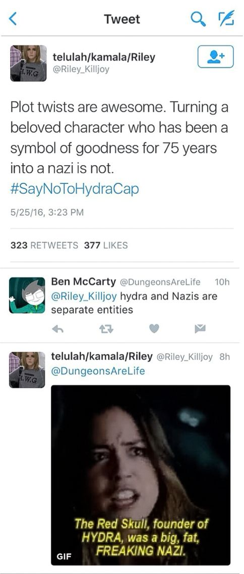 Nazis and HYDRA are branches of the same tree #SayNoToHydraCap
