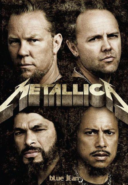 Metallica! James, Lars, Kirk, and Robert.