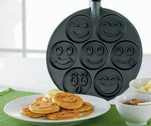 Smiley Face Pancake Pan- http://www.awesomeinventions.com/shop/slush-maker/