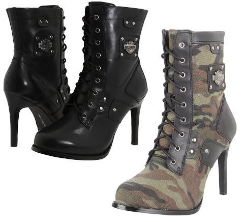 Sexy Harley Davidson Women's Clothing | Details about HARLEY DAVIDSON VIKKI WOMENS LACE UP BOOT SHOES + SIZES