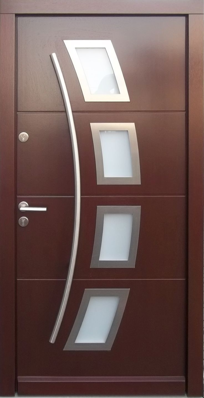 Model 006 Modern In Stock Wenge Finish Wood Exterior Door Modern