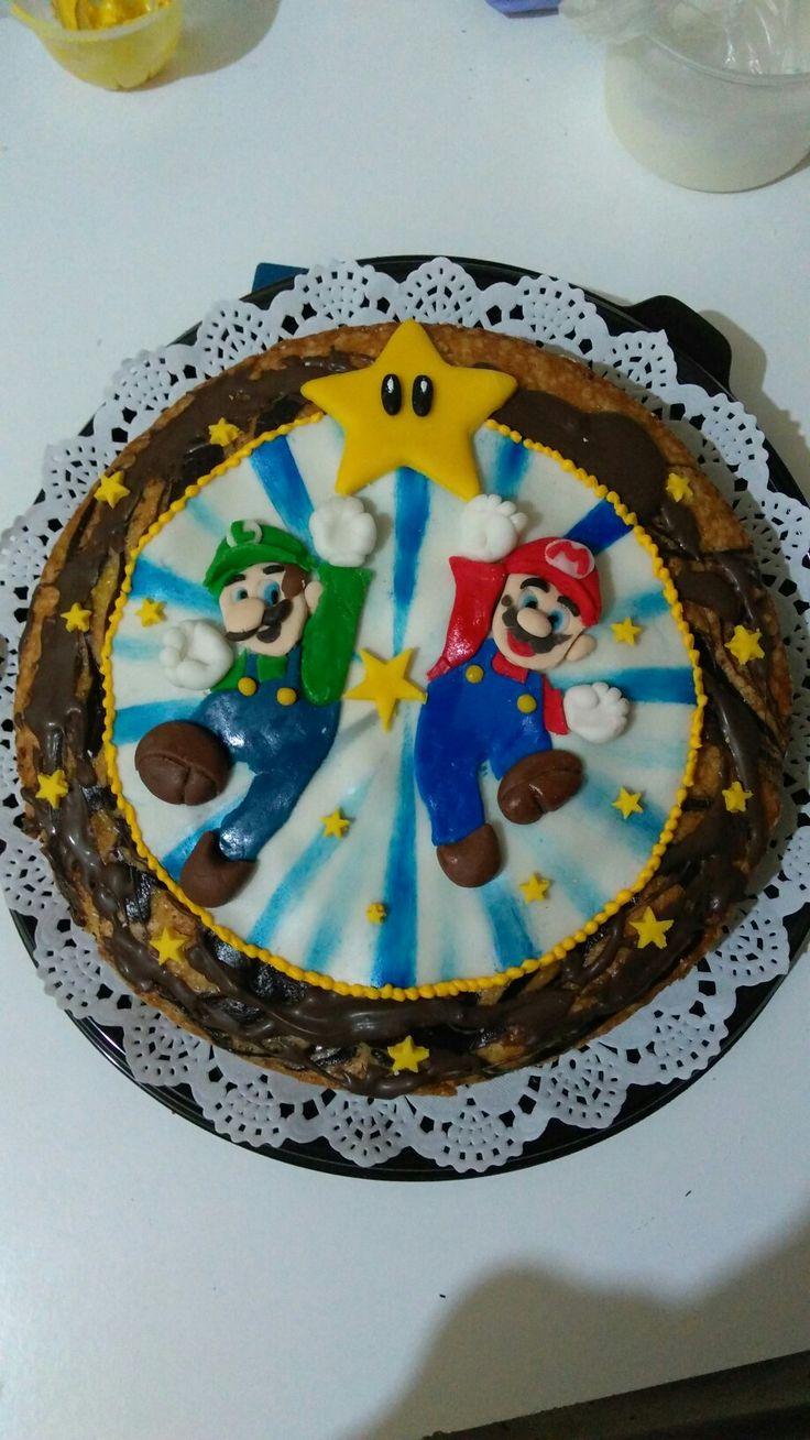 Marmoleado de chocolate y Mario Bros.