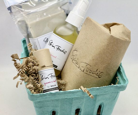 ETSY!  Gift for friend. Get well gift. skin foodie facial care kit Kit includes: original facial oil serum | 2 oz / 60 mL EVERY INGREDIENT SERVES A PURPOSE argania spinosa (argan) oil, vitis vinifera (grapeseed) oil, salvia scalrea (clary sage) oil, pimpinella anisum (anise) oil bare |  4 oz / 120 mL  A wonderful mix of