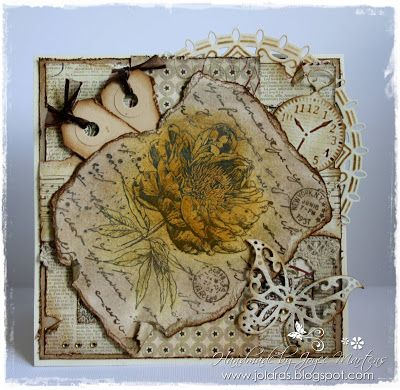 6410/0043 Noor! Design Clear Stamp Roos door Joyce Martens