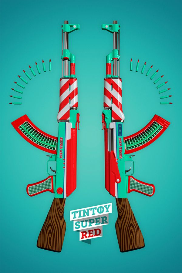 AK47 - LIMITED PRINT SERIES by Twelve Four Haus , via Behance
