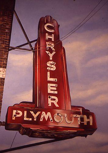 Google Image Result for http://images.thetruthaboutcars.com/2009/11/Chrysler-neon-sign.jpg: Dealer Neon, Old Neon Signs, Classic Chrysler, Autos, Chrysler Plymouth, Plymouth Signs, Cars, Vintage Signs, Classic Mopar