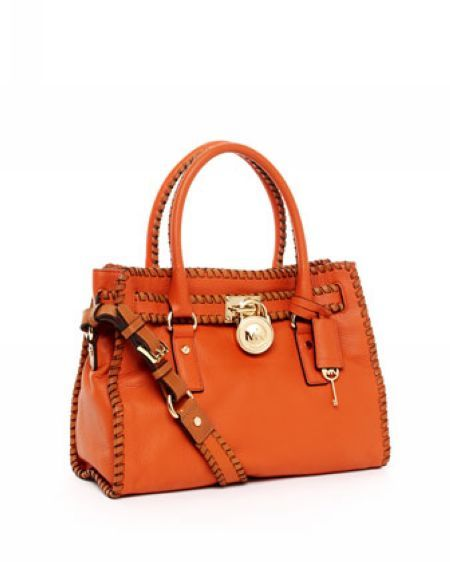 Michael Michael Kors Hamilton Whipped East West Satchel Tangerine. Some less than $100 OMG! Holy cow, I am gonna love this site!