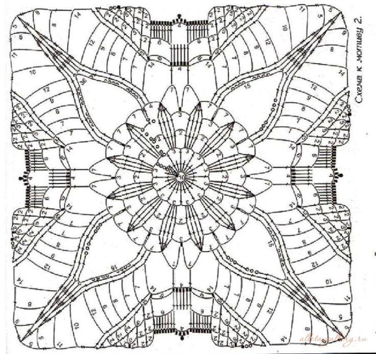 143 best Häkeln Big Square Crochet images on Pinterest | Granny ...