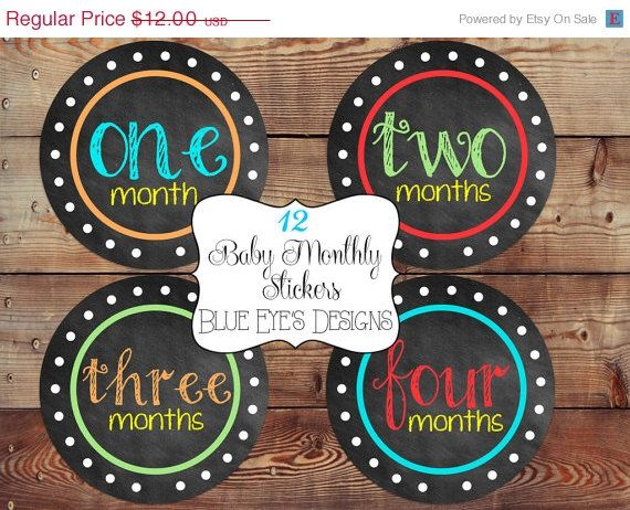 ON SALE Baby Monthly Sticker,Baby Month Milestone Stickers,Month by Month Stickers,Baby Month Stickers,Baby Age Stickers,Growth Stickers,Mon by blueeyesdesigns27 on Etsy https://www.etsy.com/listing/194943865/on-sale-baby-monthly-stickerbaby-month