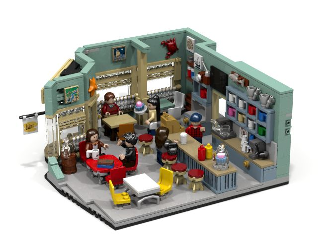 "The designer said that he built it ""…because my wife is a really big Gilmore Girls fan and she asked me to build Luke's Diner for her. So, since I am a big Lego fan I was glad to do this for her and – here it is :)"" This guy needs to win a medal or at least a cup of coffee for being a really sweet husband."