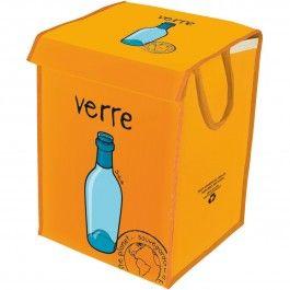 Incidence - Cesto raccolta vetro, realizzato con prodotti reciclati al 100%.