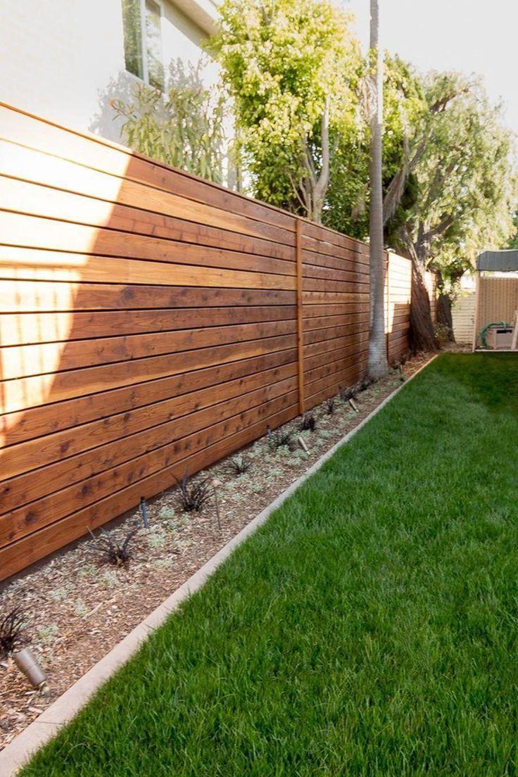 25 Amazing Modern Wood Fence Design Ideas For 2019 18 Privacy Fence Designs Fence Design Wood Fence Design Backyard modern wood fence