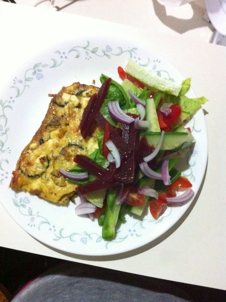 feta and zucchini frittata