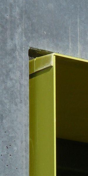 bogevischs buero, München, Studentenwohnheim, Ulm, Beton, Fertigteile, Farbe, Fenterlaibung, Detail, Fenster