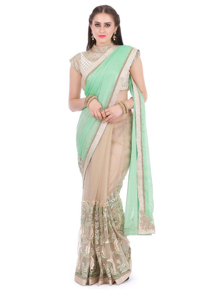 Sunshine Net Designer Traditional Sarees