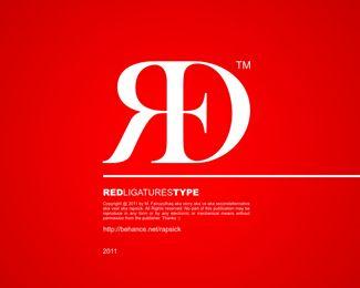 RED - Ligatures Type (via vast)  #logo #ligature more on:http://iloveligatures.tumblr.com/