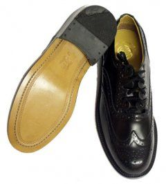 Click on the photo to buy this product :)    In Stock Luxury Ghillie Brogues, Black, Leather Soles and Uppers