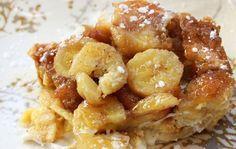 Bananen Wentelteefjes uit de Oven, wat een genot! Mijn kinderen beginnen al te watertanden wanneer ik mijn ronde ovenschaal en de bananen tevoorschijn haal!