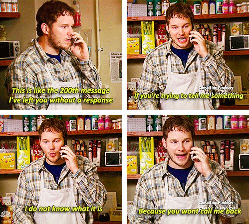 When talking to him, you know you have to be REALLY blunt. | 32 Signs Your Boyfriend Is Andy Dwyer