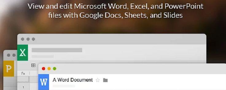 Modifier vos documents Office depuis Google Drive