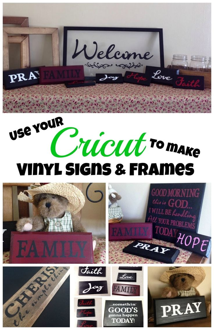 My Cricut Closet - Use your Cricut to make signs frames and other home decor