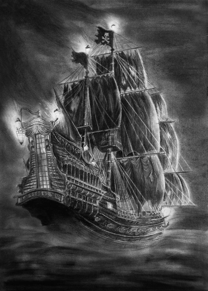 Queen Annes Revenge By Vaandark In 2020 Piratenschiff Zeichnung Piraten Schiff Schiffszeichnung