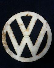 """VINTAGE VW EMBLEM 12 1/2"""" METAL VOLKSWAGON BUS SIGN Surf surfing Gas station"""
