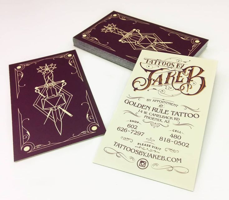 Tattoo Artist branding and business cards for Tattoos by Jake B #tattoo…