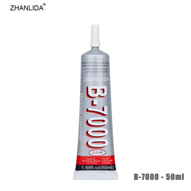 ZHANLIDA B-7000 50ml Transparent Epoxy Resine Adhesive Rhinestones DIY Decoration Cloth Shell Phone Frame B7000 Glue Gun