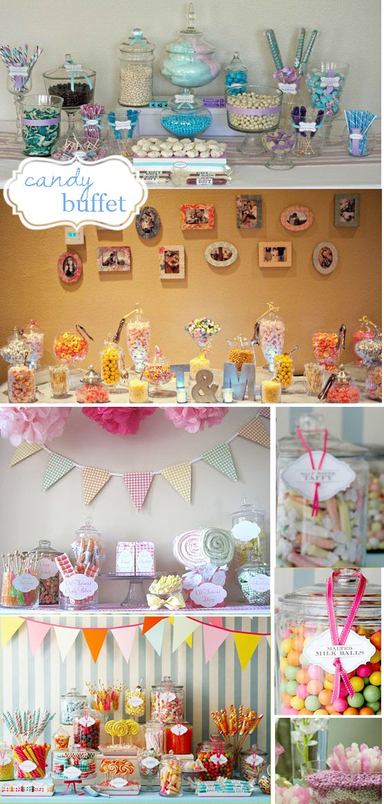 More Candy Buffet Ideas And I Like The Photos On The Wall