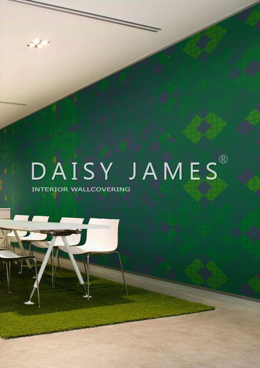 DAISY JAMES wallcover #interiordesign #Luxuryhouses #officedesign